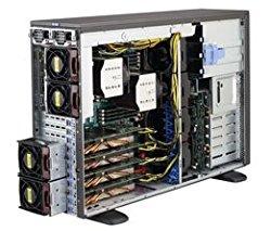 Supermicro SYS-7048GR-TR SuperWorkstation Tower Desktop, 0 MB RAM, No HDD, ASPEED AST2400, Black
