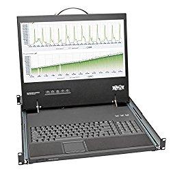 Tripp Lite Rackmount Console Short Depth Steel with Keyboard, Touchpad, & 19-Inch LCD 1URM (B021-000-19-SH)