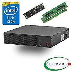 Supermicro SYS-E200-8D Intel Xeon D, 6-Core, 2x10GbE, Mini 1U Server, w/ 8G, 256GB M.2 SSD