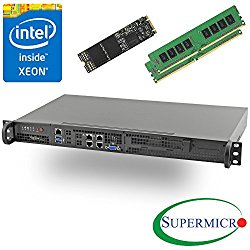 Supermicro 5018D-FN4T Xeon D 8-Core Front 1U Rackmount,Dual 10GbE w/ 16GB, 256G M.2 SSD