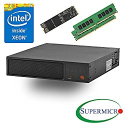 Supermicro SYS-E200-8D Intel Xeon D, 6-Core, 2x10GbE, Mini 1U Server, w/ 32G, 256 M.2 SSD