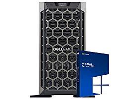 Dell PowerEdge T640 Tower Server Bundle with 2 Intel Silver 8-Core CPUs, 256GB DDR4 RAM, 3.2TB Enterprise SAS SSDs, RAID, Windows 2019 (Renewed)