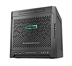 HP MicroServer Gen10 Tower Server for Small Business, AMD Opteron X3421 2.1GHz up to 3.4GHz Turbo, 32GB RAM, 4TB Fast SSD Storage, RAID, Windows Sever 2019